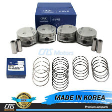 GENUINE Engine Piston Set w/ Rings for 06-11 Hyundai Accent Kia Rio 2341026501
