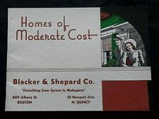 BLACKER & SHEPPARD Co 'HOMES OF MODERATE COST'  1941 Catalog HOUSE PLANS
