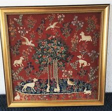 Ancienne tapisserie., Medieval, Aubusson, Rambouillet Mille animaux,