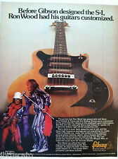 1974 GIBSON S-1 GUITAR ROD STEWART & RON WOOD VINTAGE COOL ORIGINAL AD