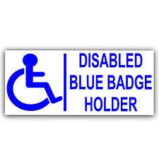 Blue Badge Holder disabilitato sticker-disability-200mm auto esterni, Veicolo Firmare