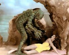 """JULIE ADAMS CREATURE FROM THE BLACK LAGOON 1954 4X6"""" HAND COLOR TINTED PHOTO"""