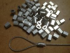 Virolas talurit de aluminio de 20x para 1mm/1.5mm Cable de acero de acero Aparejo