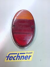 Heckleuchtenglas L VW Käfer 1965 Chromrahmen Hella Oval Tail light glass