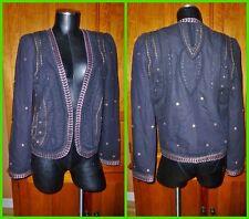 EUC MAISON SCOTCH Designer Bohemian Embellished Open Front Jacket Blazer Sz 4