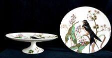 Rare Antique BWM & Co. Brown Westhead & Moore Bird Pedestal Plates