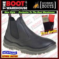 Leather Upper Slip On Boots for Men