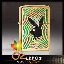 "Zippo ""Playboy Bunny"" High Polish Brass Fusion Lighter 29252 - FREE SHIPPING"