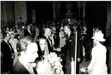 Valéry Giscard d'Estaing et son épouse au mariage de la fille du Prince Fau