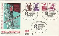 Germany Berlin 1972 We Use Safe Ladders FDC Slogan Cancel Stamps Cover Ref 24456
