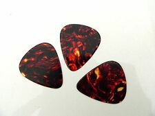 Tortoise Shell effect Plectrums 3 pack Thin gauge teardrop Guitar Pick Plectrum