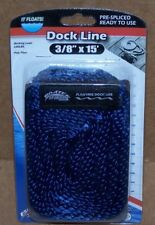 "Navy Blue Dock Line 3/8"" x 15' Floating MFP 12"" Loop Boat Docking  New"