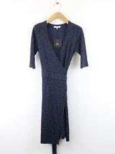 Bnwt Great Plains DONNA IMPERIAL BLU METALLIZZATO WRAP DRESS SIZE XS (UK 10)