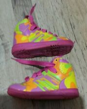 Adidas Originals Jeremy Scott Neon Camouflage High Top Trainers Shoes Girls Boys