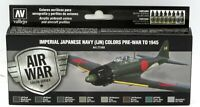 Vallejo 71.169 Imperial Japanese Navy (IJN) Colors Pre-War to 1945 (Paint Set)