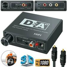 Optical Toslink Coaxial Digital to Analog L/R Audio Adapter Converter 3.5mm newm
