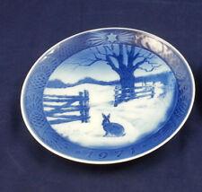"""1971 """"Hare in Winter"""" Royal Copenhagen Christmas Plate 7.25 inch - Kai Lange"""
