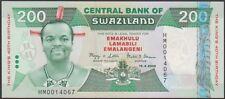 SWAZILAND 200  EMALANGENI 2008  Prefix HM - P 35   COMMEMORATIVE Uncirculated