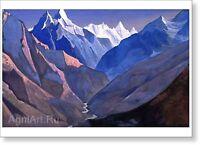 N By Roerich Fine art print NEW Castle in Ladakh