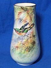 Royal Winton Grimwades China Byzanta Ware artist signed Bird vase