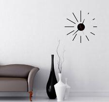 Wall Clock Sticker Modern Home Office Decor Art Decal lines Mechanism