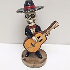 "Ashland SKELETON MARIACHI GUITAR PLAYER 6.75"" Tall Polyresin Halloween"