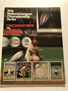 1976 CINCINNATI REDS vs PHILLIES NLCS Program Un-Scored ROSE Bench SCHMIDT Perez