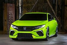 2016 HONDA CIVIC COUPE (GREEN) POSTER 24 X 36 INCH Looks Awesome!