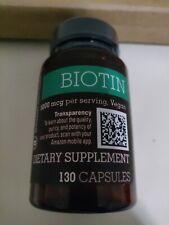 Amazon Elements - BIOTIN 5000mcg per serving - 130 capsules