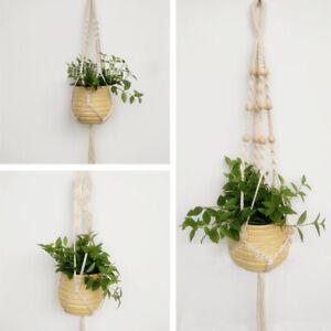 Vintage Hanging Planter Pot Holder Macrame Plant Hanger Basket Hemp Rope Indoor