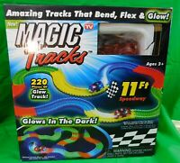 Magic Tracks Xtreme with Blue Race Car -10 FT Speedway 200 Pieces of Glow Track