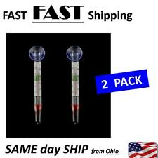 2x New Glass Meter Fish Tank Water Temperature Aquarium Thermometer Suction Cup