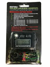 New Digital Tiny Tachometer Tach Hour Meter Job Timer Resettable Kohler Briggs