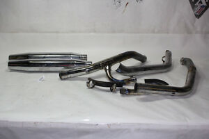 Harley Dyna 1994 FXDWG exhaust pipes + mufflers + heat shields EP19965