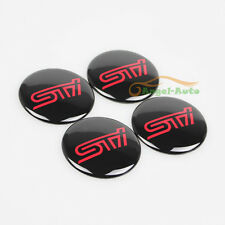 4x For Subaru STI Sports Car Wheel Center Hub Cap Emblem Badge decal Sticker