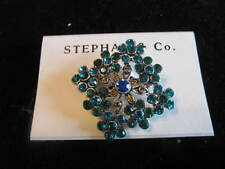 Co Peacock Colored Pin Nwt Mothers Day Turquoise & Blue Fashion Pin Stephan &