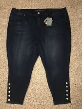 Seven7 Melissa McCarthy Jeans Pencil Plus Size 28W Inseam 26 Womens Stretch NWT
