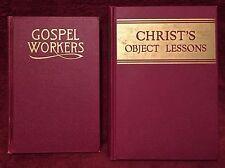 Ellen G White Duo: Gospel Workers ~ Christ's Object Lessons Vintage SDA Books