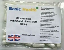 Glucosamine Chondroitin MSM x 60 All in 1 850mg Capsule Joint Relief Arthritis