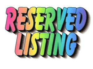 Reserved Listing for Francoise Only