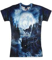 Spirit Wolf Moon T-Shirt (cool tie dye wolf all over print t shirt)