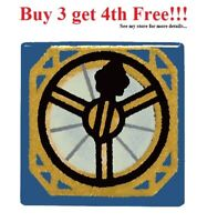 ☀️NEW Lego Magic Pirate COMPASS Tool 1x1 Decorated Blue TILE w/Gold Dial Pattern