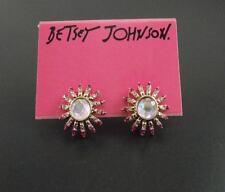 New Betsey Johnson Sun Flowers Stud Earrings Gift FS Fashion Graded Rhinestone