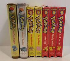 7 Vintage Pokemon VHS VCR Cassette Tape Lot