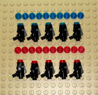 10 x Lego Minifigure Star Wars Laser Blasters Black Shooting Weapon+Extra Ammo