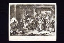 Il saltimbanco, quadro di Knauss Incisione del 1869