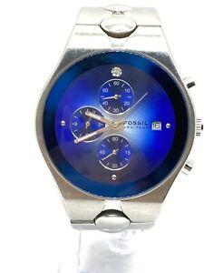 Fossil Arkitekt FS2920 Men's Multifunctional Blue Date Dial Watch New Battery