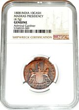 1808 UK Gardner Shipwreck East India Co TEN CASH X Coin NGC Certified & Story