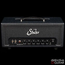 NEW SUHR BADGER 35 WATT TUBE AMPLIFIER HEAD BRITISH PLEXI TONE - BLACK / SILVER