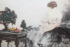 Louis Icart Le Jardin Japonais estampe aquatinte 1932 27 x 21 cm (cuivre)